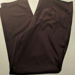 NEW DANA BUCHMAN PULL ON PANTS BURGUNDY XL